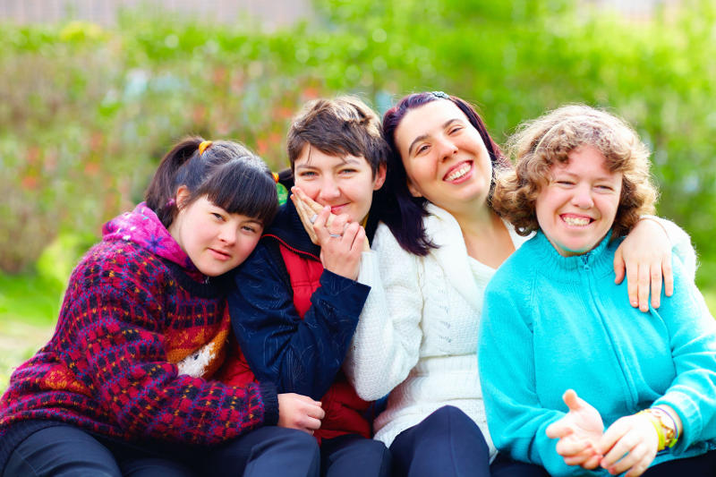 People with Mental Disabilities Having Fun at a Park: Buddies 4 Life