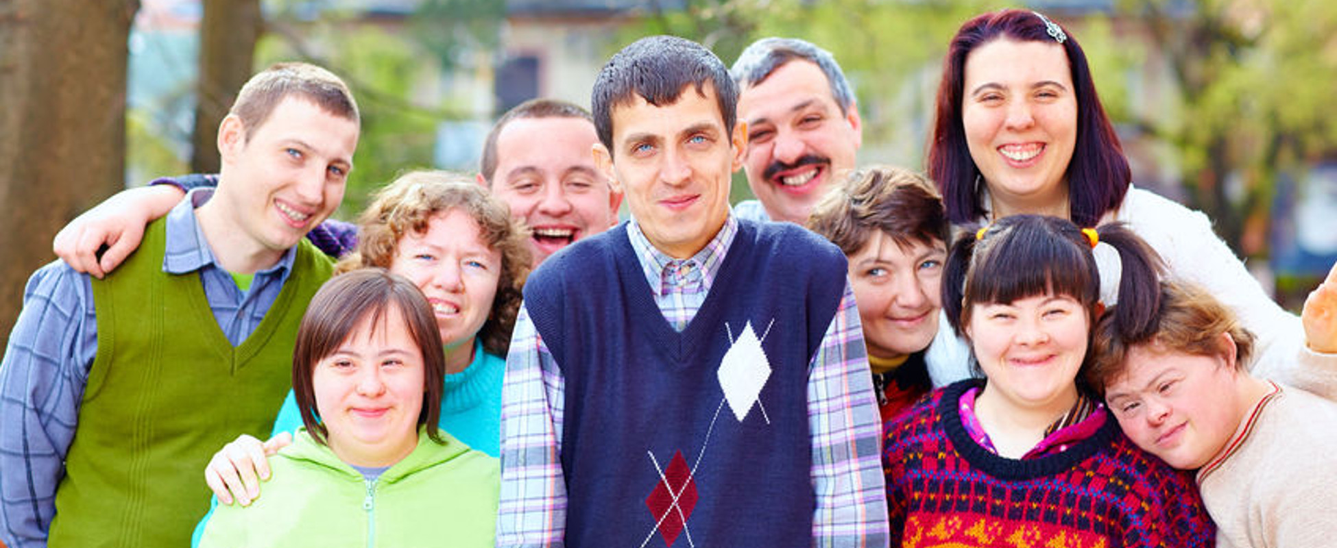 Buddies 4 Life: Group of people with intellectual disabilities outside in the sun